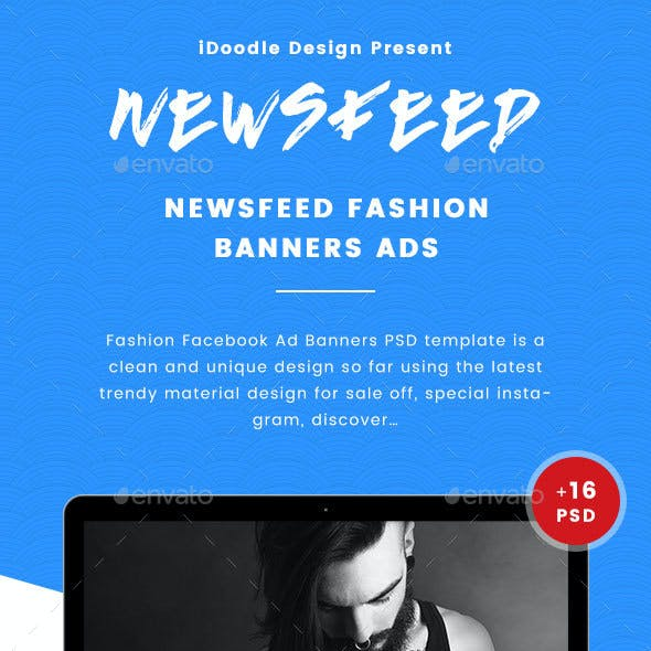 Fashion Facebook Ad Banners - 16 PSD [02 Size Each]