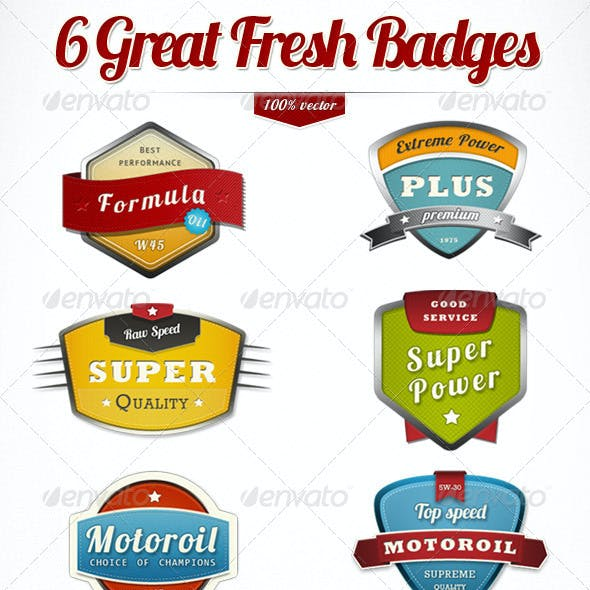 6 Modern Trendy Badges