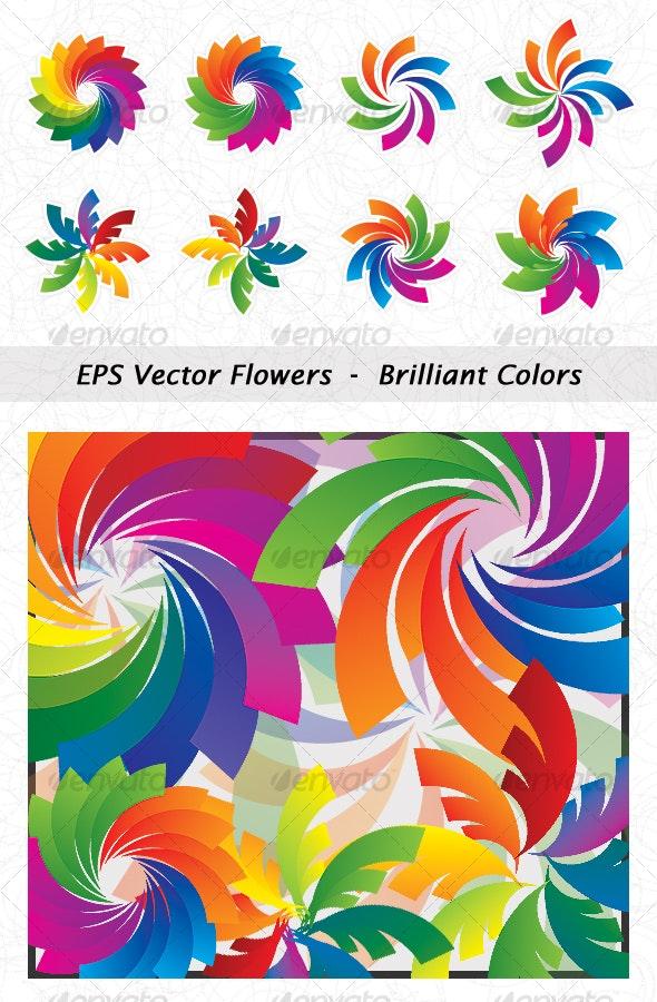EPS Vector Flowers  -  Colors - Miscellaneous Vectors