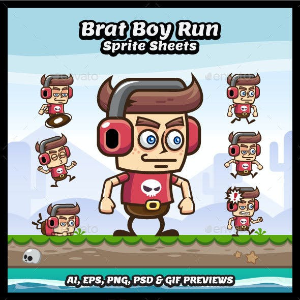 Brat Boy Game Character Sprite Sheets