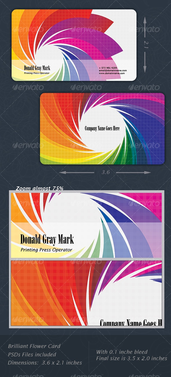 Flower Card - Creative Business Cards
