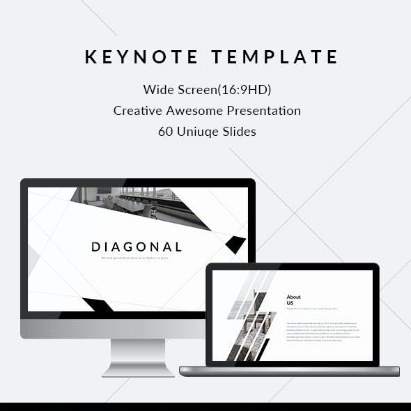 Diagonal - Clean & Creative Keynote Template