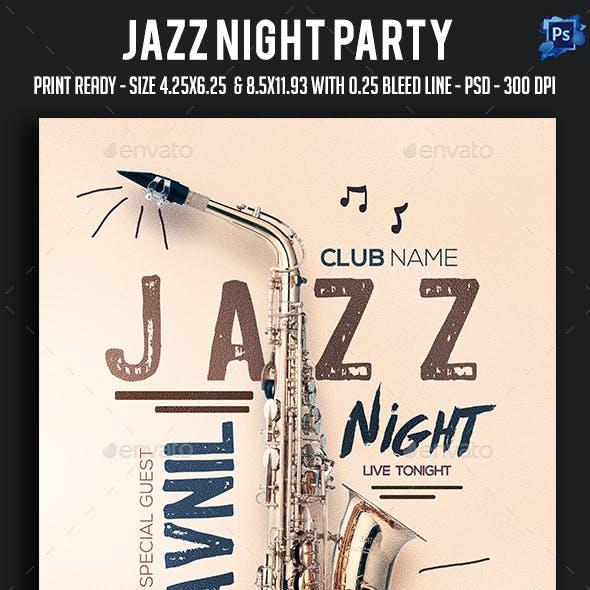 Jazz Night Party Flyer