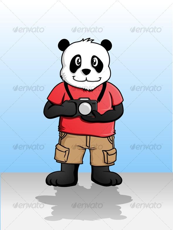 Photobrapher Panda - Animals Characters