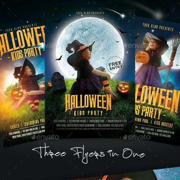 Kids Halloween Flyer Bundle
