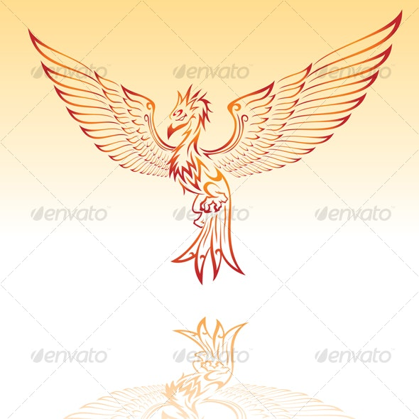 Phoenix - Tattoos Vectors
