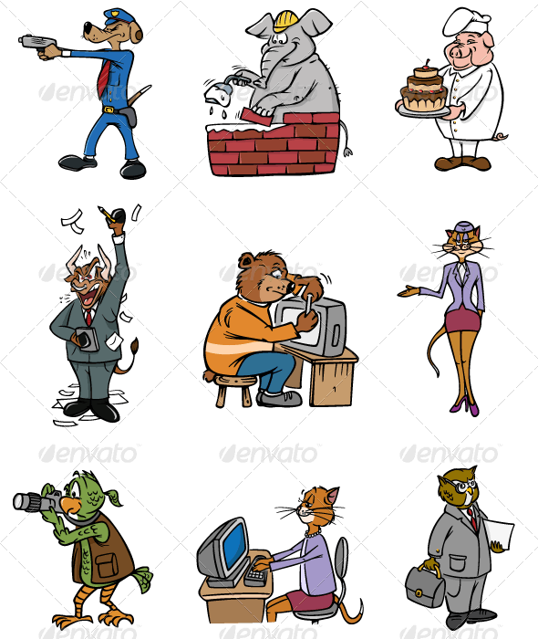 Animal Professions - Animals Characters