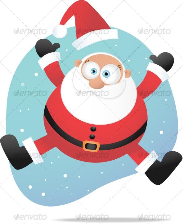 Jumping Santa - Characters Illustrations