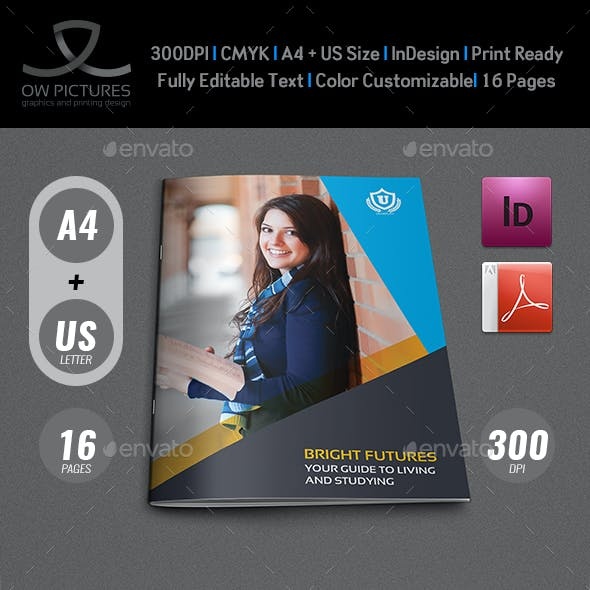 University - College Brochure Template - 16 Pages
