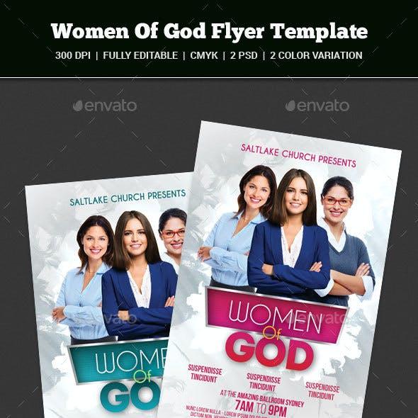 Women Of God Flyer