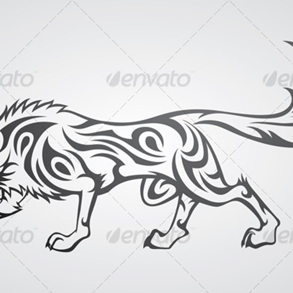 Wolf Tribal Tattoo