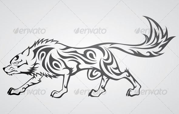 Wolf Tribal Tattoo - Tattoos Vectors