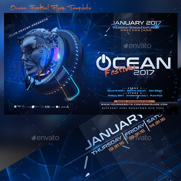 Ocean Festival Flyer Template