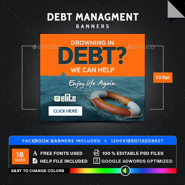 Debt Managment Banners