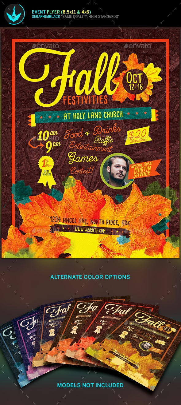 Fall Festivities Holiday Flyer Template - Holidays Events