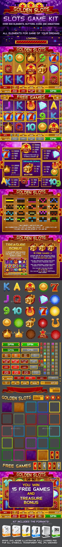 Golden Slots Game Kit - Game Kits Game Assets