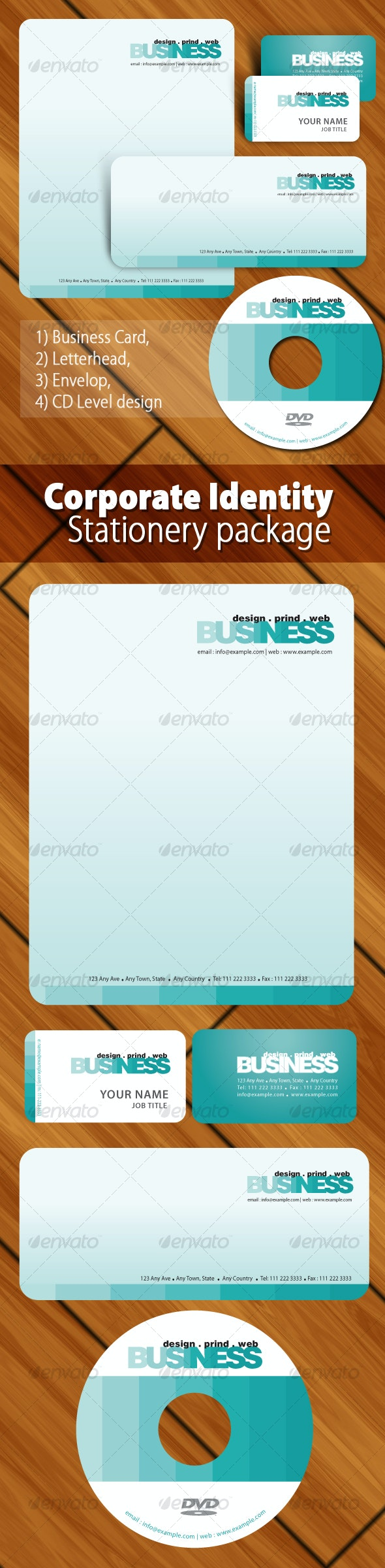Artistic corporate identity package templates - Stationery Print Templates