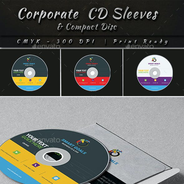 Corporate CD Sleeves and Compact Disc Template