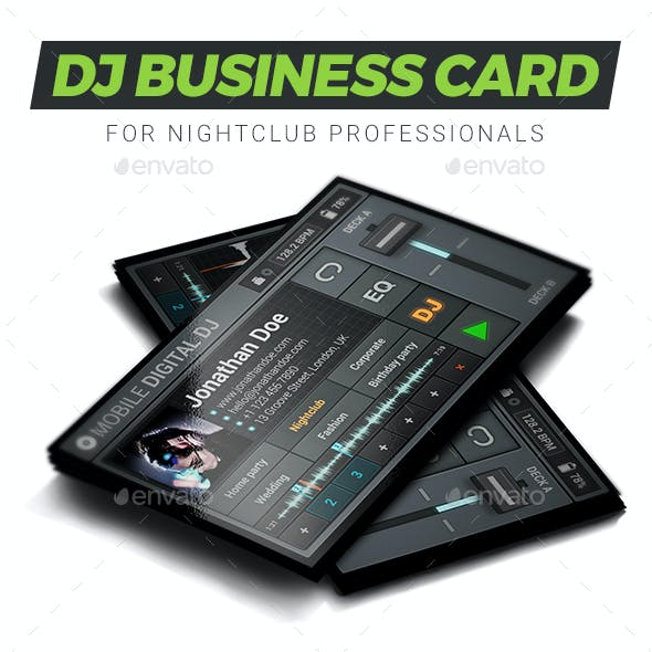 Mobile Digital DJ Business Card