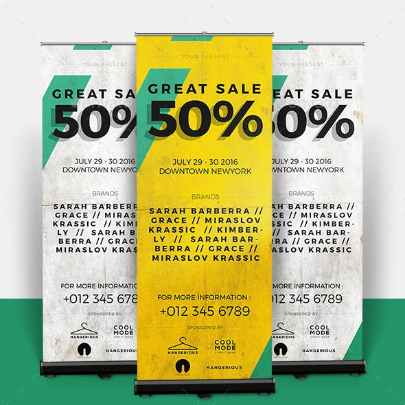 Sale Roll-up Banner