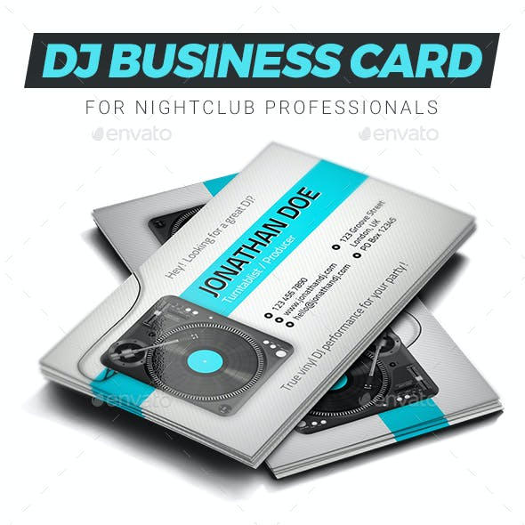 Turntablist DJ Business Card