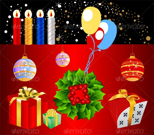 Christmas pack 2 - Backgrounds Decorative