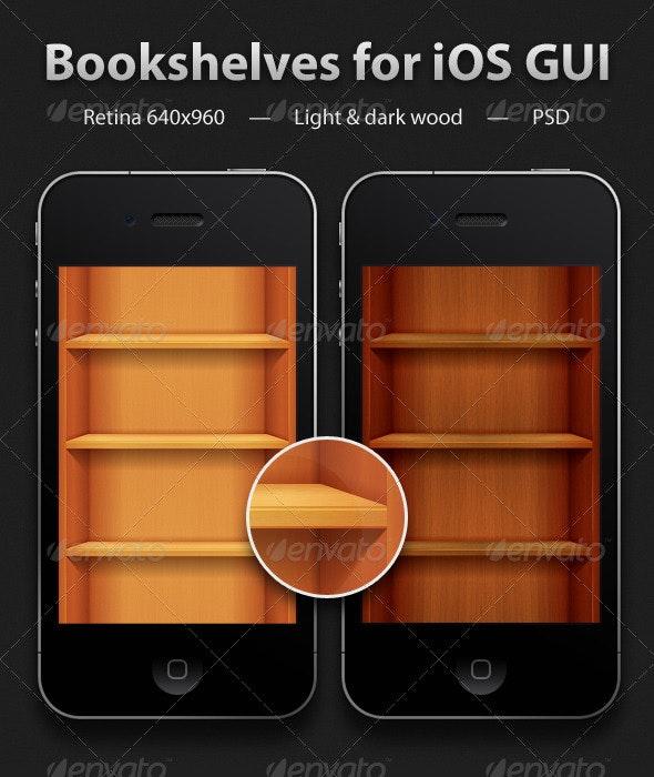 Bookshelves for iOS GUI - Miscellaneous Web Elements