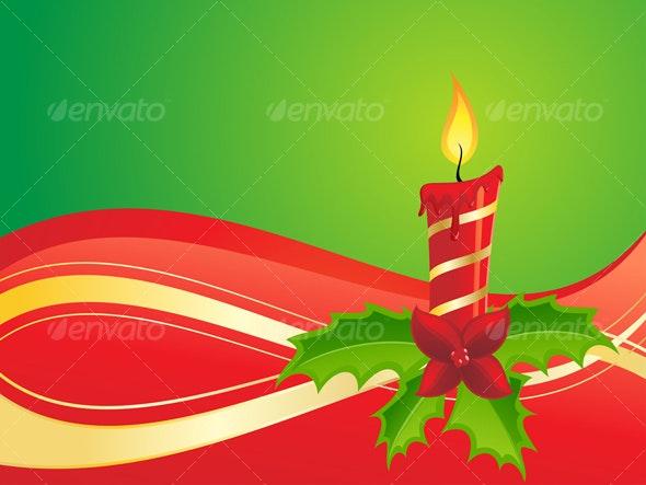 Christmas Candle - Christmas Seasons/Holidays
