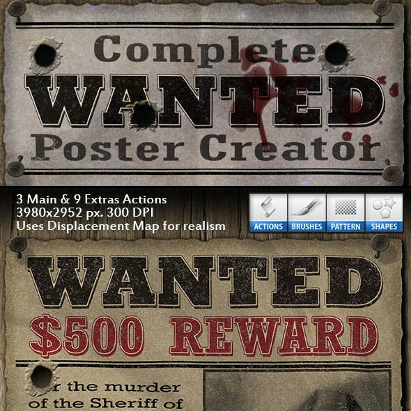 Complete Wanted Poster Creator