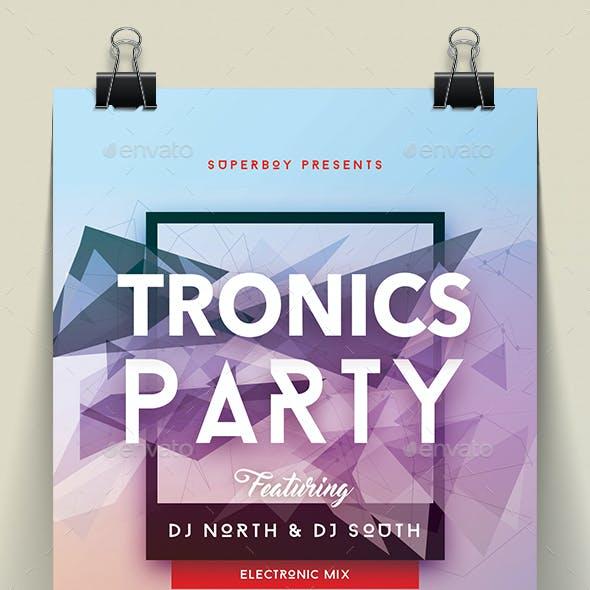 Tronics Party Flyer