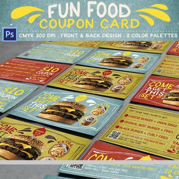 Fun Food Coupon Card
