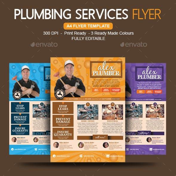 Plumbing Flyer For A Plumber