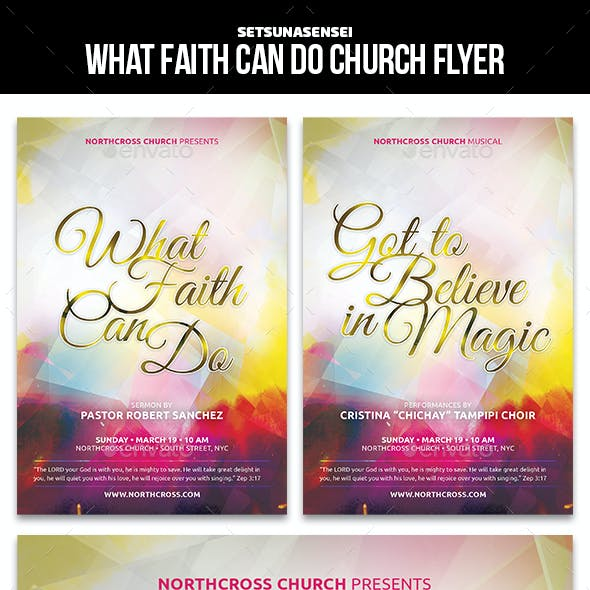 What Faith Can Do Church Flyer