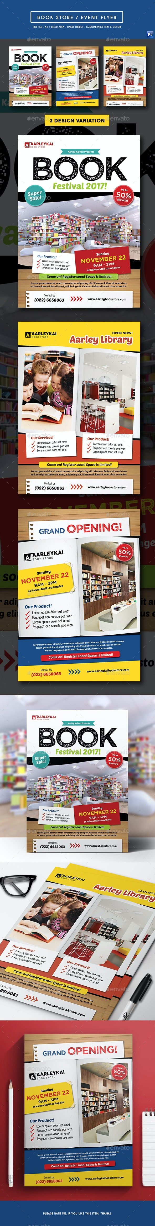 Book Store / Event Flyer - Commerce Flyers