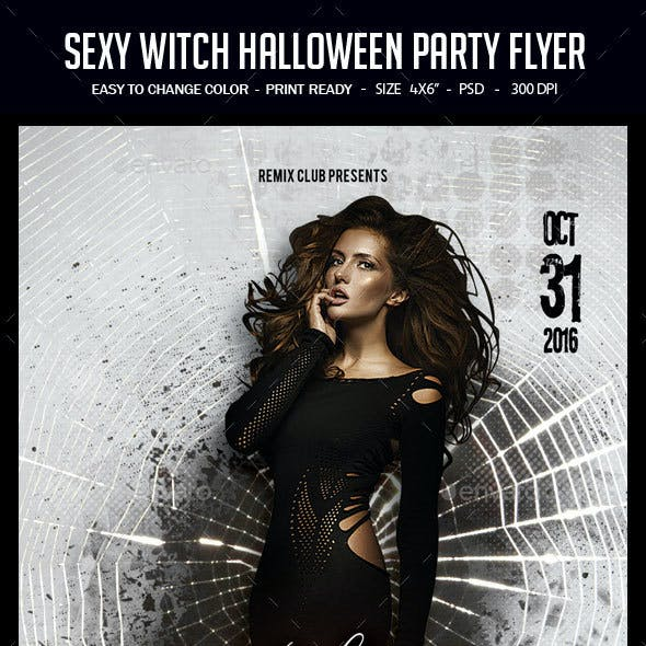 Sexy Witch Halloween Party Flyer