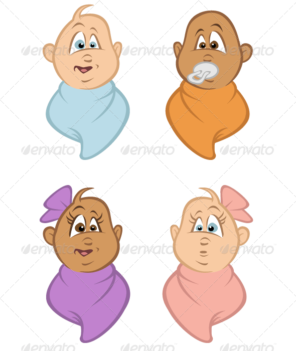 Babies Bundled - People Characters
