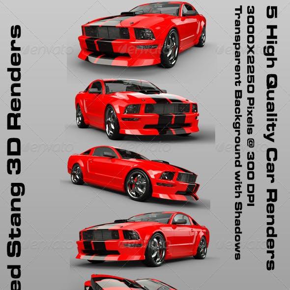 Red Stang 3D Renders