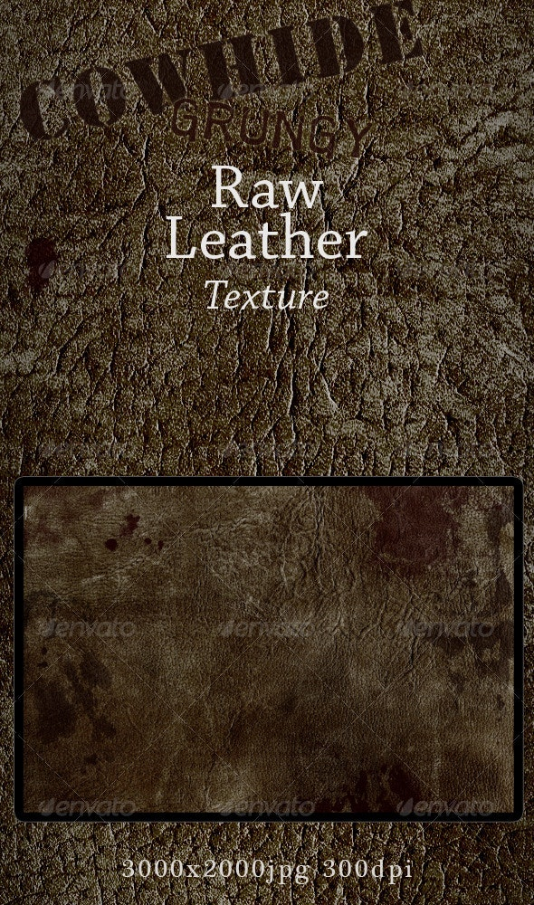 Grungy Leather, Raw Cowhide Skin - Industrial / Grunge Textures