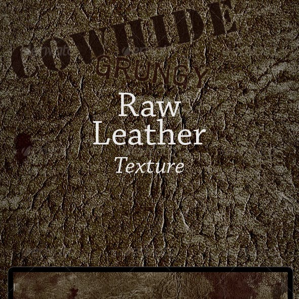Grungy Leather, Raw Cowhide Skin