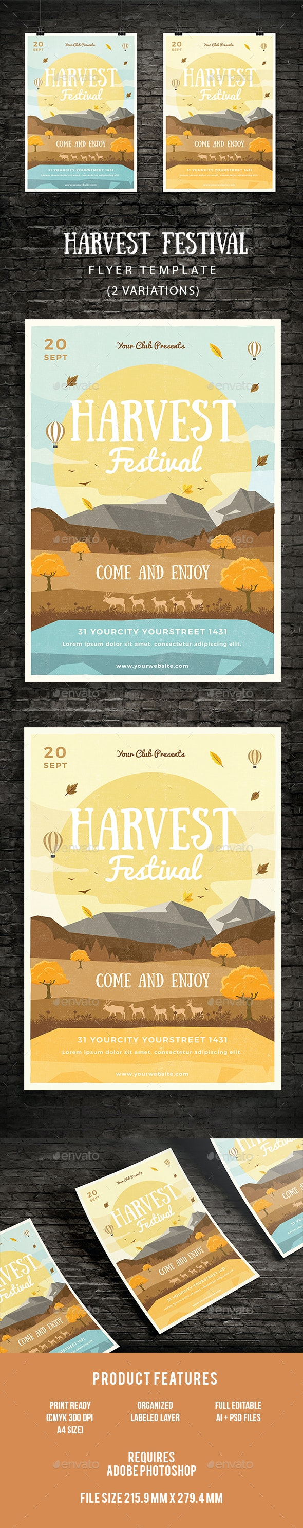 Harvest Festival Flyer - Events Flyers