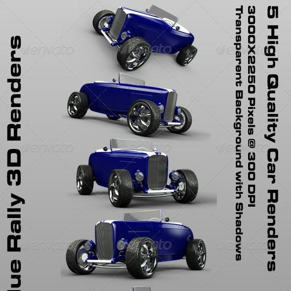 1932 Blue Rally 3D Renders