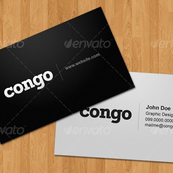 Congo – Business Card