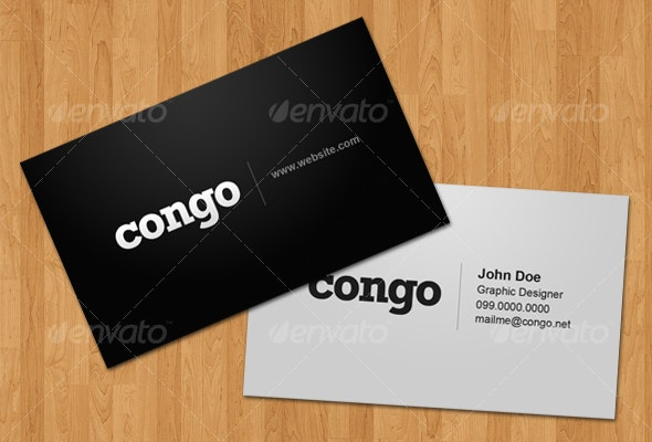 Congo – Business Card - Corporate Business Cards