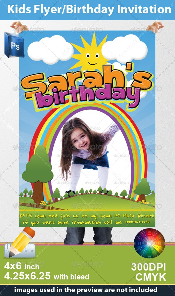 Kids Flyer/Birthday Invitation - Birthday Greeting Cards