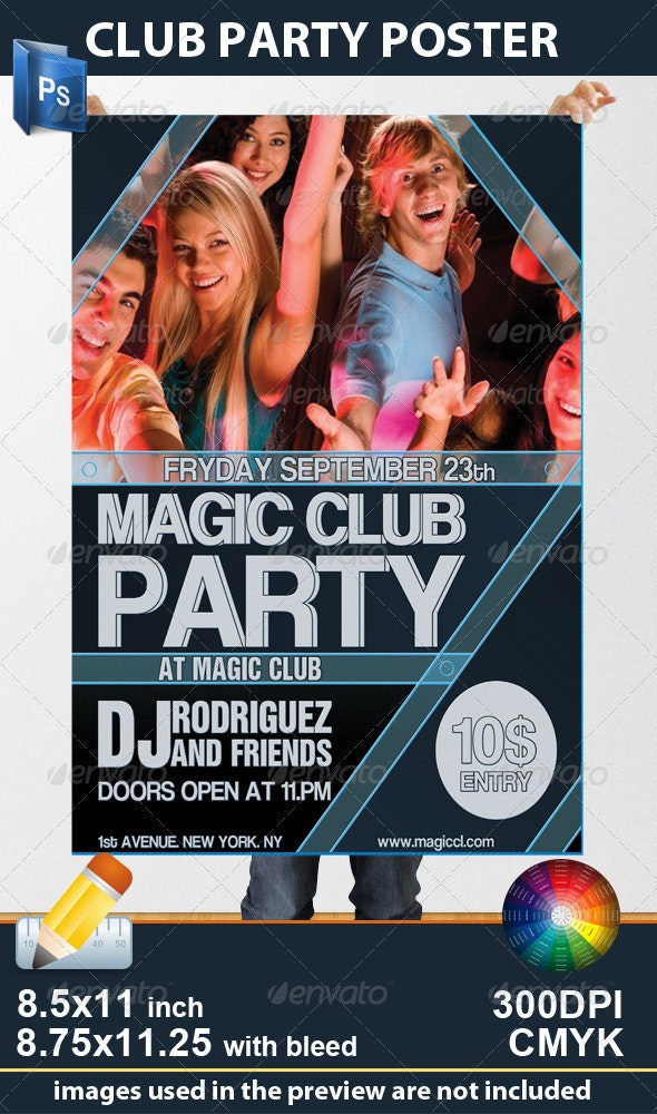 Club Party Poster - Clubs & Parties Events