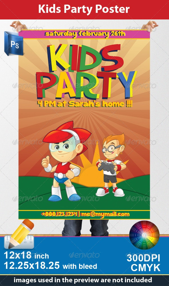 Kids Party Poster - Clubs & Parties Events