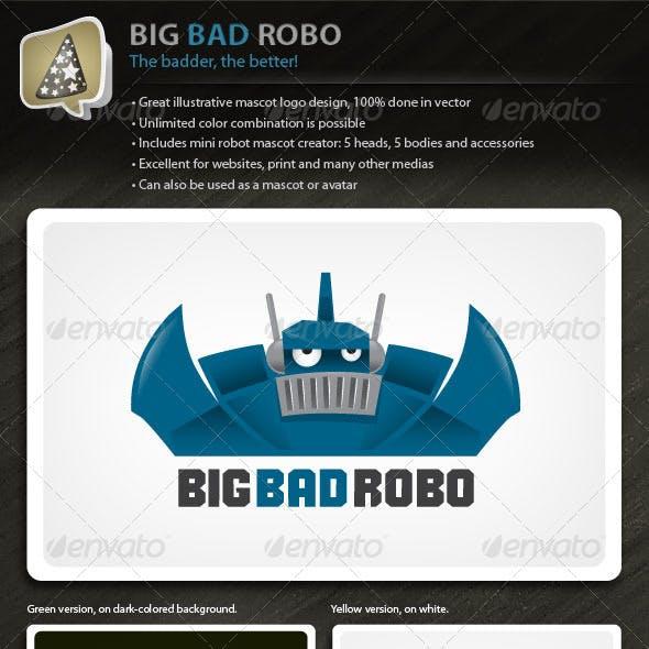 BigBadRobo - Strong Illustrative Robot Mascot Logo