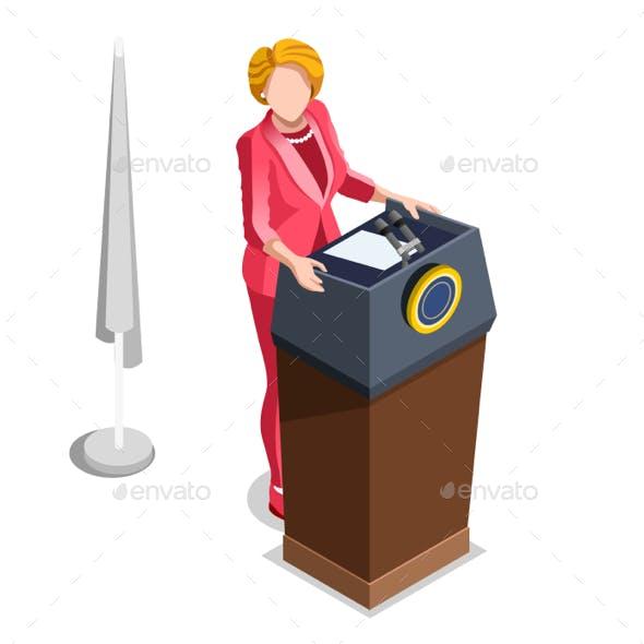 Election Infographic Politics Isometric People
