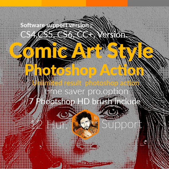 Comic Art Style Photoshop Action