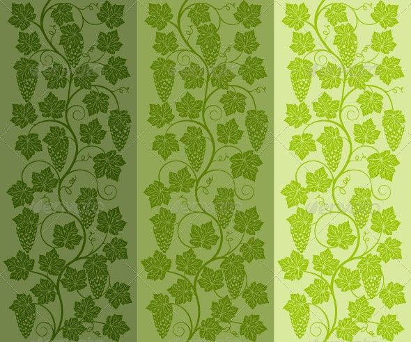 Floral background with a vine. Vector ill - Flowers & Plants Nature
